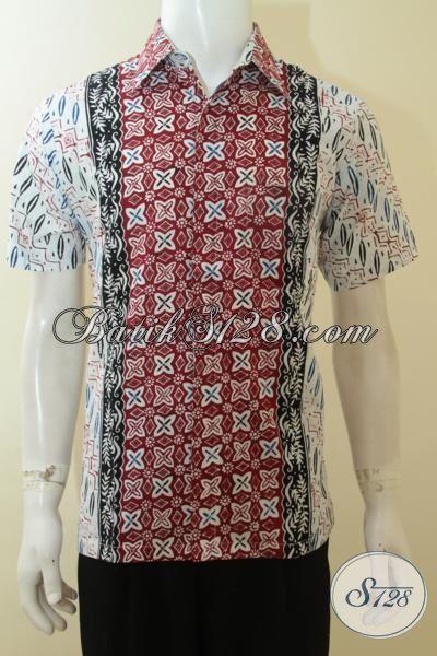 Baju Batik Keren Dua Warna Pakaian Batik Pemuda Dua Motif