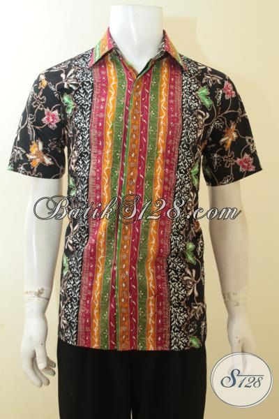 Batik Hem Modis Dan Keren, Busana Batik Paling Di Sukai Anak Muda, Baju Batik Solo Cap Tulis Lebih Halus Dan Murah, Size M