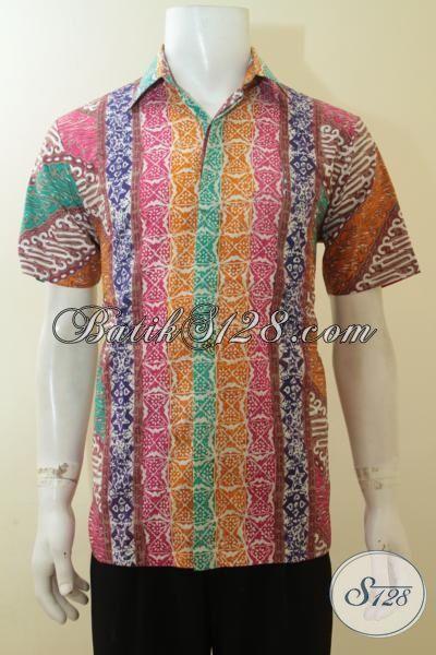 Distro Pakaian Batik Cowok Jual Hem Batik Desain Motif Terbaru 2019, Baju Batik Lengan Pendek Cap Tulis Cocok Untuk Gaul Dan Bekerja [LD3902CT-M]