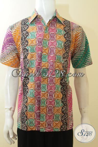 Toko Batik Jawa Paling Up To Date Jual Hem Batik Keren Trend Terbaru Dengan Motif Dan Warna Berkelas, Baju Batik Cap Tulis Berbahan Halus Nyaman Di Pakai [LD3809CT-M]