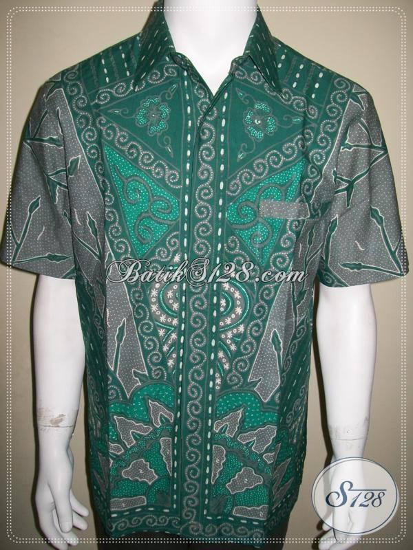 ... Batik Unik Warna Hijau Keren Kualitas Bagus [LD390T-L] - Toko Batik
