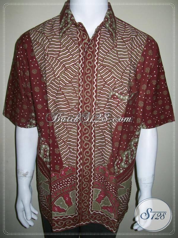Hem Batik Pria Halus, Kualitas Bagus, Batik Tulis Modern Motif Sinaran Matahari Milo
