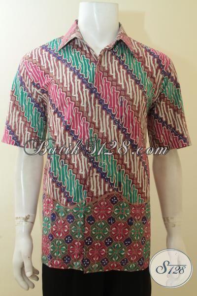 Busana Baju Batik Pria Di Jual Online, Pakaian BatikMasa Kini Khas Pria Muda Yang Fashionable Untuk Berbagai Acara, Size L