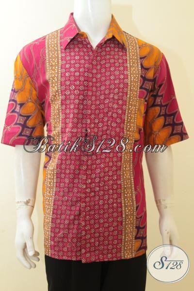 Jual Online Hem Batik Jumbo 3L, Pakaian Batik Exclusive Pria Gemuk, Baju Batik Modern Untuk Tampil Lebih Begaya, Size XXL