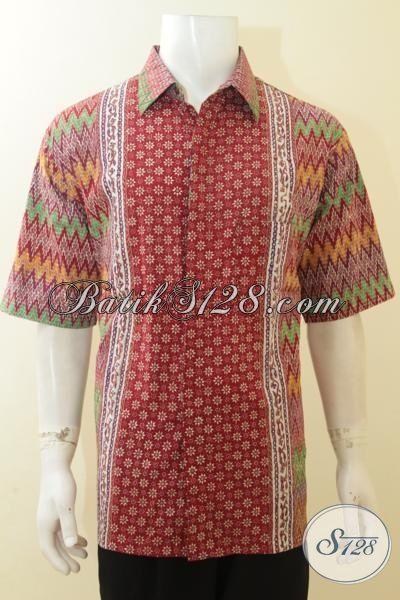 Sedia Pakaian Batik Ukuran Besar XXL, Baju Batik Lengan Pendek Buatan Solo Proses Cap Tulis Motif Kombinasi, Pas Buat Pesta Dan Modis Untuk Jalan-Jalan