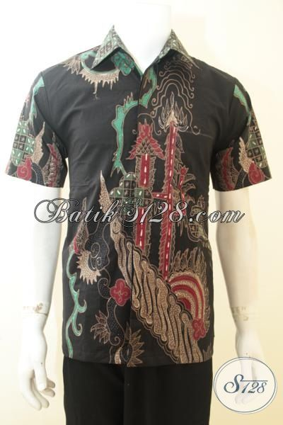 Kemeja Batik Modern Proses Tulis Motif Keren, Pakaian Batik Lengan Pendek Full Furing Untuk Pria Muda Dan Dewasa Tampil Lebih Berwibawa Dan Berkelas [LD3954TF-S]