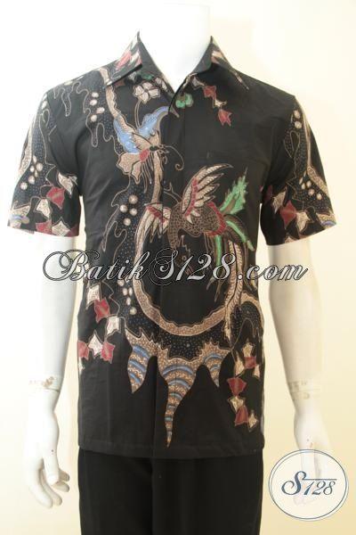Jual Baju Batik Elegan Motif Keren Proses Tulis, Batik Hem Lengan Pendek Full Furing Lebih Mewah Dan Berkelas, Size M