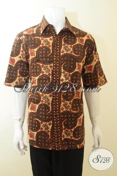 Jual Busana Batik Lengan Pendek Motif Keren Terkini, Batik Anak Muda Tampil Trendy Dan Berkelas, Batik Pria Halus Harga Terjangakau [LD3962CT-XXL]