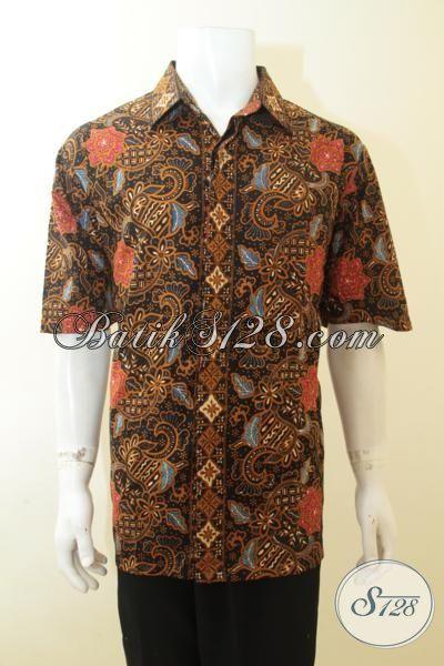Pria Gemuk Tampil Trendy Dengan Batik Cap Tulis Solo Motif Terbaru Yang Fashionable, Baju Batik 3L Berbahan Halus Adem Nyaman Di Pakai Kerja