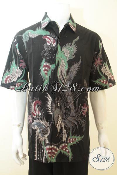 Jual Hem Batik Lengan Pendek Ukuran XXL, Baju Batik Tulis Lengan Pendek Istimewa Untuk Pria Gemuk Harga Sangat Terjangkau