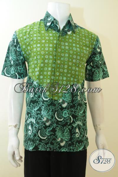 Busana Hem Batik Lengan Pendek Terbaru Baju Batik Kerja Dua Motif