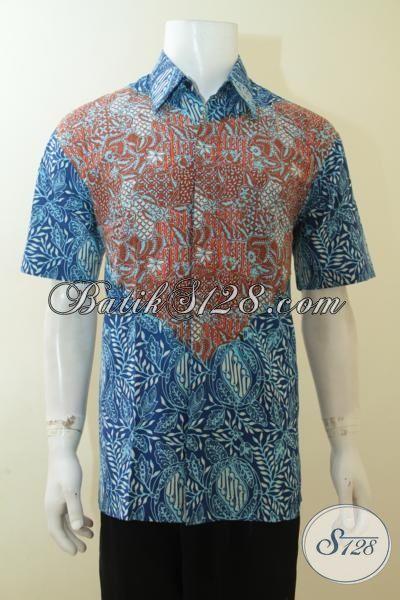 Distro Batik Modern Terlengkap, Jual Aneka Batik Paling Keren Saat Ini, Batik Dual Motif, Baju Batik Cap Tulis Dua Warna Bagus Dan Fashionable [LD3987CT-L]
