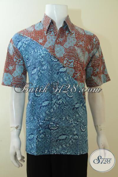 Pusat Penjualan Fashion Batik Cowok, Sedia Hem Batik Dua Warna Desain Masa Kini Yang Membuat Cowok Semakin Tampan Mempesona, Size L