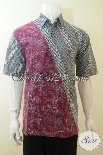 Situs Belanja Batik Online Paling Lengkap Untuk Pria, Jual Hem Batik Lengan Pendek Size L, Busana Batik Keren Buatan Solo Proses Cap Tulis