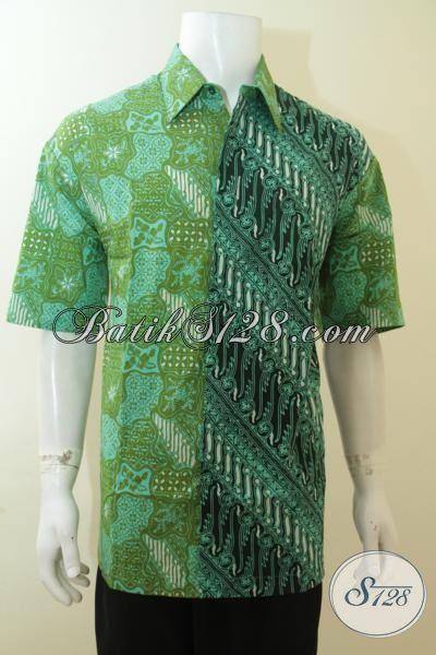 Batik Hijau Lengan Pendek Batik Parang Kombinasi Baju Batik