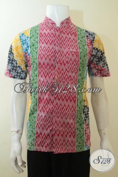 Busana Batik Gaul Model Kerah Shanghai Baju Batik Koko Proses Cap