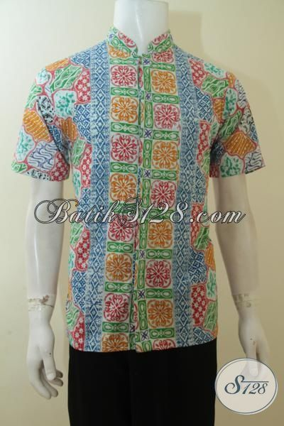 Batik Hem Bagus Halus Proses Cap Model Kerah Shanghai, Baju Batik Gauk  Ukuran S Exclusive Remaja Pria