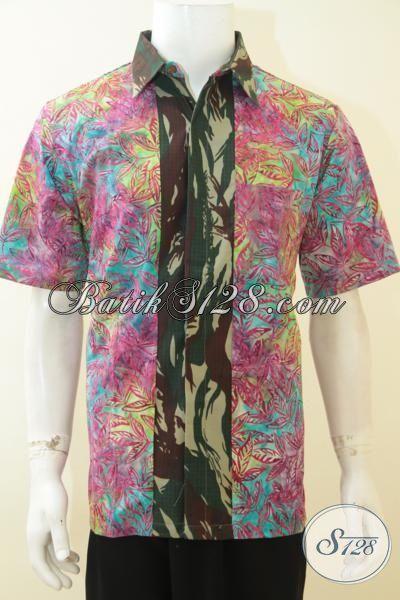 Baju Batik Cowok Motif Doreng Tentara Berbahan Halus Berapadu