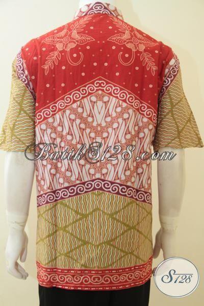 Baju Batik Super Jumbo, Hem Batik XXXL Untuk Cowok Gemuk Sekali, Baju Kerja Batik Motif Klasik  Proses Kombinasi Tulis