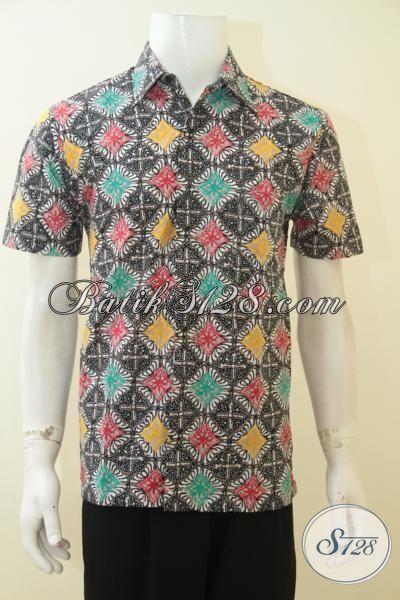 Sedia Baju Batik Hem Produk Solo Print, Batik Halus Motif Keren Model Lengan Pendek Bisa Untuk Kerja Dan Santai, Size M – L – XL – XXL