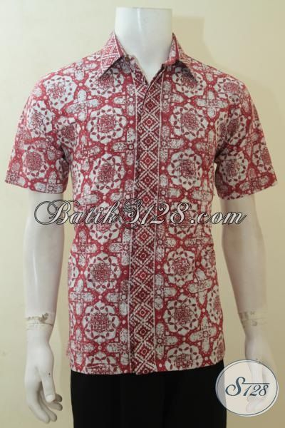 Hem Batik Motif Unik, Baju Batik Gaul Pria Muda, Busana Batik Cap Kwalitas Halus Dan Adem [LD4085C-M]