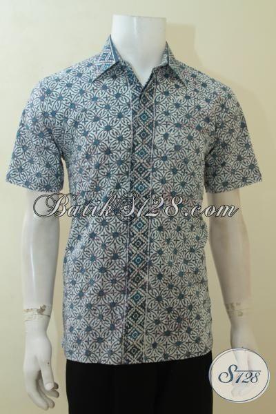 Baju Batik Pria Tampil Keren, Hem Batik Proses Cap Motif Terkini, Pakaian Batik Lengan Pendek Bisa Untuk Kerja Dan Santai [LD4086C-M]