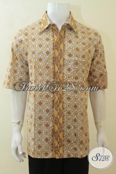 Pakaian Batik Cowok Ukuran Jumbo Hem Batik Modern Size 3l