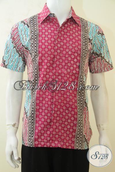 Toko Pakaian Batik Anak Muda Jual Hem Yang Hadir Dengan Desain Motif Yang Atraktif, Kemeja Batik Elegan Berkelas Istimewa Untuk Kerja Dan Santai [LD4129CT-M]