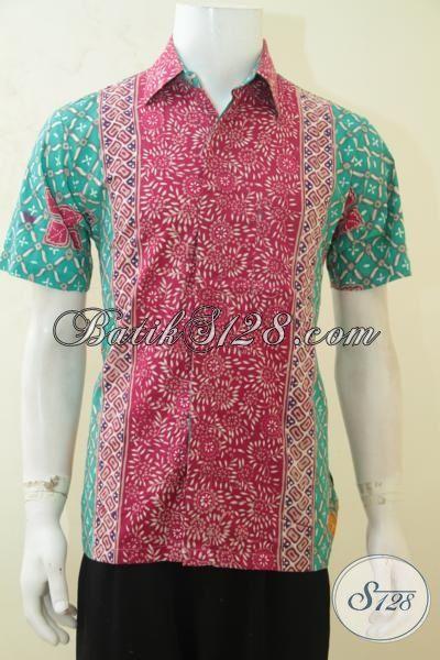 Pakaian Batik Cowok Masa Kini, Baju Batik Paling Keren Untuk Pria Muda, Baju Batik Gaul Cap Tulis Cocok Untuk Jalan-Jalan, Size M