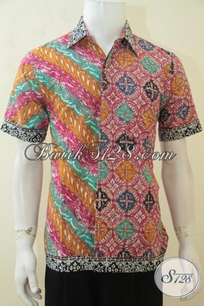 Pakaian Batik Lelaki Sejati, Hadir Dengan Motif Klasik Modern Yang Keren, Baju Batik Solo Cap Tulis Desain Masa Kini Dengan Aksen Nan Trendy [LD4137CT-M]