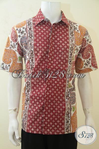 Jual Baju Batik Kerja Yang Banyak Di Sukai Pria Muda, Hem Batik Cap Tulis Lengan Pendek 3 Motif Pria Tampil Lebih Paten [LD4143CT-L]