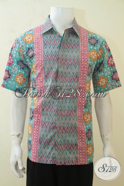 Online Shop Batik Paling Terpercaya, Jual Batik Hem Cap Tulis Motif Terbaru Yang Membuat Cowok Semakin Keren Dan Mempesona Size L