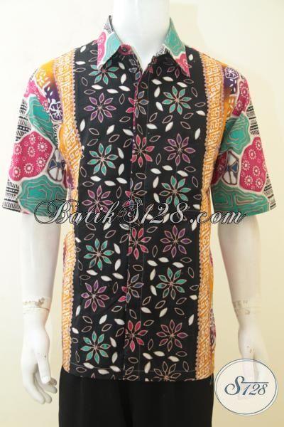 Seragam Kerja Batik Motif Terkini, Batik Pesta Berbahan Halus, Batik Solo CAp Tulis Istimewa Dan Mempesona [LD4155CT-XL]