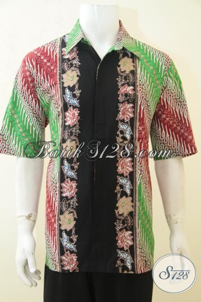 Baju Batik Formal Dan Non Formal Motif Bunga Gelap  Model Baju