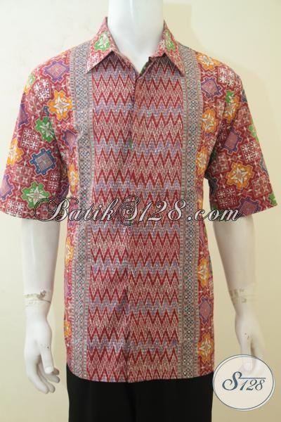 Cowok Gemuk Tampil Modis Dan Keren Dengan Kemeja Batik Tiga Motif Size Jumbo, Baju Batik 3L Warna Modern Kwalitas Istimewa, Size XXL