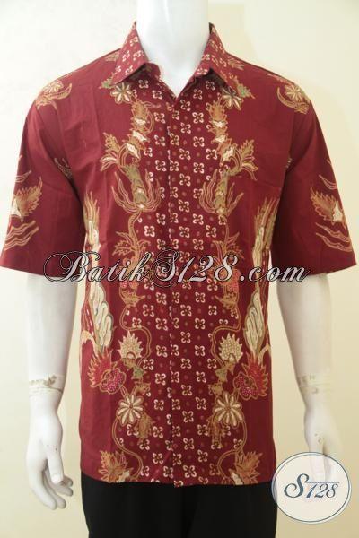 Baju Batik Tulis Merah Kwalitas Bagus Harga Murah Kemeja