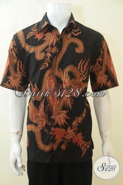 baju batik hem mewah terbaru busana batik tulis soga masa kini model lengan pendek batik jawa
