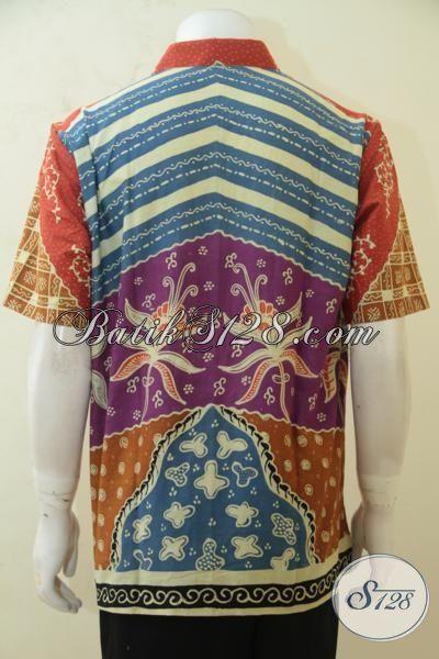 Kemeja Batik Motif Kombinasi, Baju Batik Keren Dan Elegan Size L, Baju Kerja Batik Klasik Proses Tulis Cocok Juga Buat Kondangan