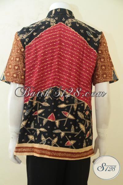 Trend Baju Batik Cowok 2015, Busana Batik Motif Klasik Dengan Warna Modern Yang Lebih Mewah, Kemeja Batik Tulis Berkelas Cowok Terlihat Ganteng, Size L