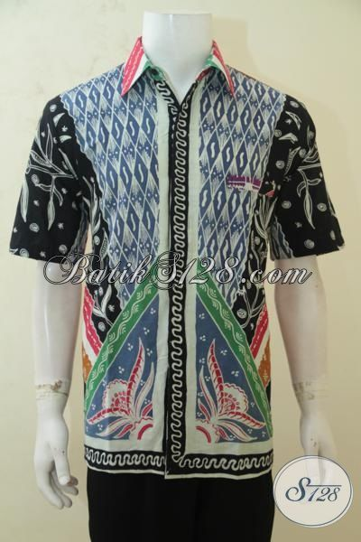 Hem Batik Untuk Kondangan, Baju Batik Tulis Lengan Pendek Motif Mewah Cocok Untuk Acara Formal, Size L