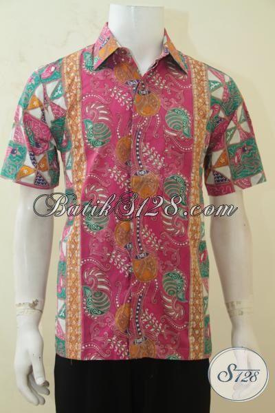 Baju Batik Triple Motif, Pakaian Kerja Batik Desain Terbaru, Hem Batik Solo Leboh Bagus Halus Dan Terjangkau [LD4242CT-M]