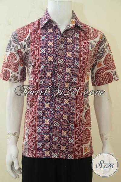 Hem Lengan Pendek Batik, Busana Batik Cap Tulis Produk Solo Motif Terbaru Yang Lebih Berkwalitas [LD4243CT-M]