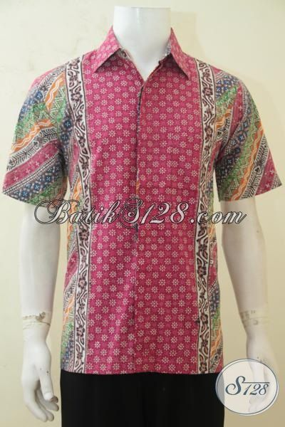 Jual Pakaian Kerja Bahan Batik Dengan Motif Terbaru Yang Fashionable, Baju Batik Lengan Pendek Cap Tulis Istimewa Harga Terjangkau, Size M