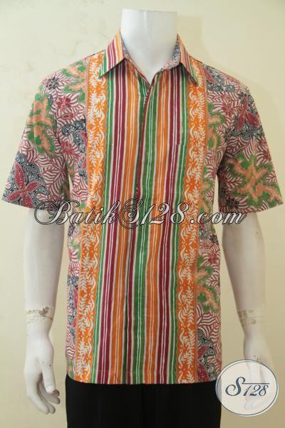 Kemeja Batik Anak Muda 2015, Busana Batik Masa Kini Yang Membuat Lelaki Tampil Trendy Dan Gagah [LD4247CT-L]