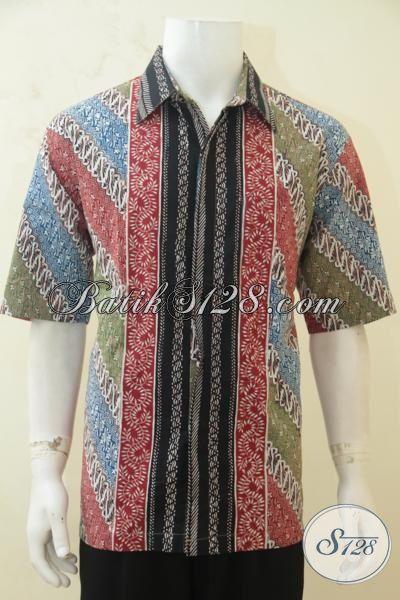 Distro Baju Batik Online, Jual Hem Batik Cap Tulis Kombinasi Motif Klasik Dan Modern Batik Lengan Pendek Modis, Juga Melayani Penjualan Offline [LD4258CT-XL]