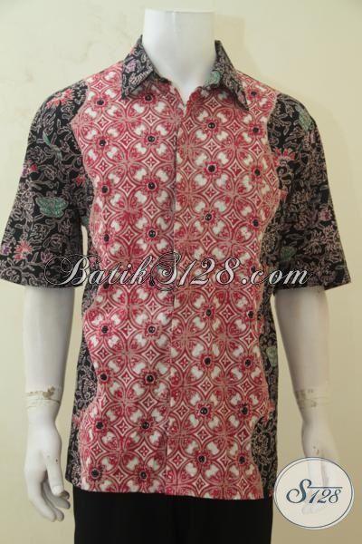 Hem Batik Dua Motif Desain Unik Nan Berkelas, Baju Batik Cap Tulis Buatan Solo Untuk Penampilan Semakin OK, Size XXL