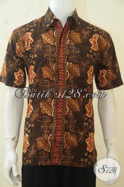Baju Batik Klasik Lengan Pendek, Batik Kerja Pria, Batik Modern Pilihan Tepat Pria Hebat, Size M