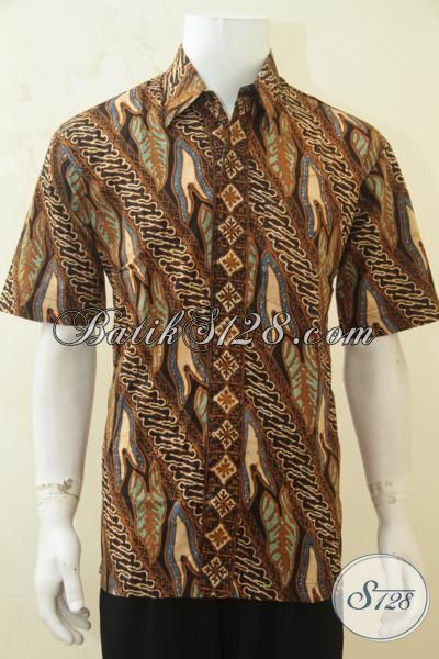 Sedia Batik Hem Motif Terbaru, Batik Klasik Cap Tulis Elegan Istimewa Untuk Kerja Dan Modis Untuk Acara Formal [LD4272CT-L]