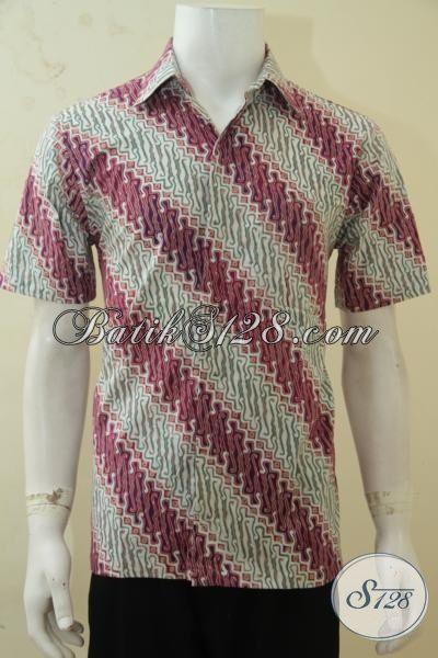 Hem Batik Modis Buatan Solo Cap Tulis, Batik Trendy Motif Parang Cocok Untuk Baju Ke Kantor, Size M