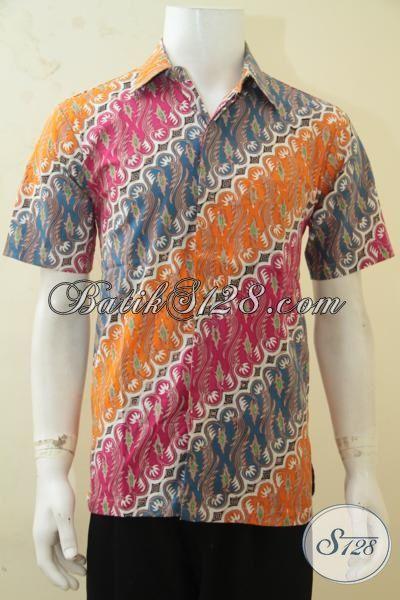 Baju Batik Khas Kawula Muda, Hem Batik Cap Tulis Motif Klasik Warna Trendy Cocok Buat Hangouts Dan Acara Resmi, Size M